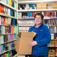 PEOPLE: Josh celebrates one year at Officeworks